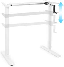 Multidesk ställbar höjd skrivbord manuell 73-123 cm höjd vit