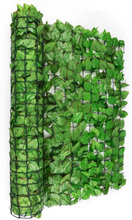 Fency Bright Leaf insynsskyddsstaket vindskydd 300x100 cm bok ljusgrön