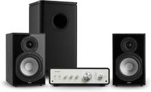Drive 802 stereo-set förstärkare + hyllhögtalare + subwoofer svart