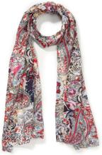 Sjaal bloemen- en ornamentenprint Van Peter Hahn rood