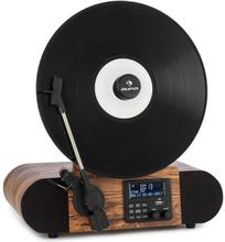 Verticalo SE DAB retro-skivspelare DAB+ FM-tuner USB BT AUX trä