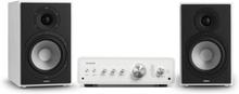 Drive 802 stereo-set stereo-förstärkare + högtalare vit / vit