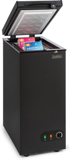 Iceblokk 50 frysbox fristående 50l korg löstagbar A+ svart