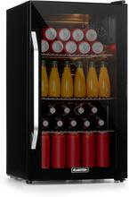 Beersafe XXL Onyx kylskåp A+ LED 3 metallgaller glasdörr Onyx