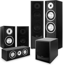 Black-Line 5.1 Hemmabioset Ljudsystem svart