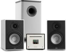 Unison Reference 802 stereoanläggning förstärkare boxar vit/grå/svart