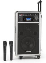 ST-100 MK2 mobilt PA-Ljudsystem Bluetooth CD USB SD MP3 Batteri UHF
