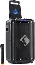 "Moving 100 PA-anläggning 10"" woofer 50/150W UHF-mikrofon USB SD BT AUX mobil"