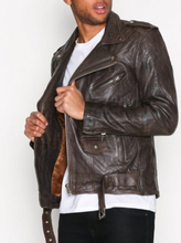 Deadwood Classic Biker Jacket Takit Brown