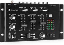 TMX-2211 MKII DJ-mixer 3/2-kanal crossfader talkover rack-inbyggnad svart