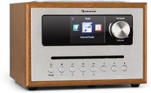 Silver Star CD Cube radio Bluetooth HCC display trä brun