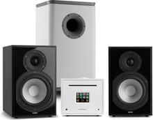 Unison Reference 802 Edition stereoanläggning förstärkare boxar svart / vit