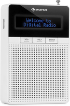 DigiPlug DAB Kontakt-Radio, DAB+, UKW/PLL, BT, LCD-Display, Vit