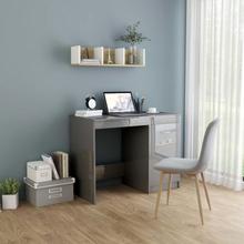 vidaXL Skrivebord høyglans grå 100x50x76 cm sponplate