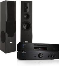 HiFi System - 600W förstärkare, CD-MP3 spelare Radio Receiver & Hifi högtalare