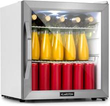 Beersafe L Crystal White kylskåp A+ LED 2 metallgaller glasdörr vit