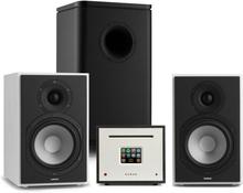 Unison Reference 802 Edition – stereoanläggning förstärkare boxar vit/svart