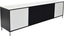 Skänk Happy 230 cm - 4 Luckor (vit svart)