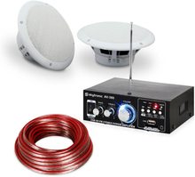 """Terrass & Badrum HiFi Förstärkare Speaker Sound Set 5"""" 4-tlg wvattentätt"""