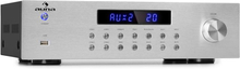 AV2-CD850BT 4-zon stereo-förstärkare 5x80W RMS Bluetooth USB FM silver