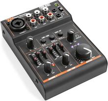 PDM-D301 3-Kanals-Mixer USB-Mixerbord 2-Vägs-Equalizer