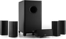 Ambience 5.1-surround-sound-system svart inkl 30m högtalarkabel