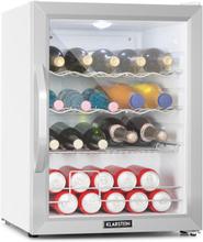 Beersafe XL Crystal White kylskåp A++ 60L LED glasdörr vit/silver