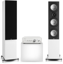 Drive 801 Stereo-set stereo-förstärkare + golvhögtalare vit / svart
