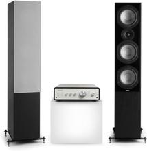 Drive 801 stereo-set stereo-förstärkare + högtalare svart / grå