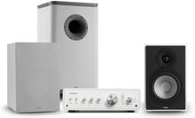 Drive 802 stereo-set förstärkare + högtalare + subwoofer+cover vit/grå