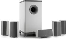 Ambience 5.1-surround-sound-system vit inkl 30m högtalarkabel