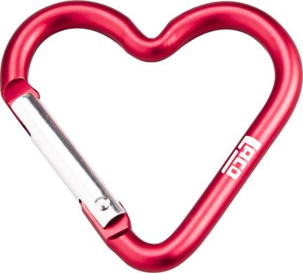 LACD Accessory Biner Heart Small , punainen 2018 Matkalukot