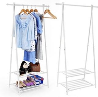 Stående Design Garderoberek Tøj Stativ Stativ Med Sko Rack Tøj Hooks Hangers - Garderobe Tøj Hanger Hangrek