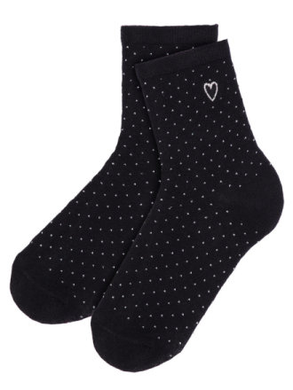 NAME IT Kids Dotted Glitter Socks Women Black