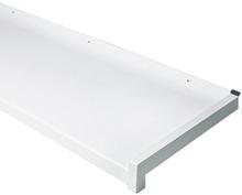 Außen-Fensterbank - Alu weiß (25mm Tropfnase) - 50mm