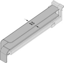 Fensterbank Seitenabschluss mit Dichtteil für Putz - Alu - 25 od. 40mm Blende (EN 1027)