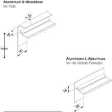 Fensterbank Seitenabschlüsse L und U Profil - Sichtbeton oder Putz - 25 od. 40mm Blende - RAL oder eloxiert - 50-130mm