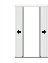Insektenschutz Plissee für Doppeltüren (Nischenmontage)