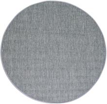 Flatvävd / slätvävd matta Belfort - Antracit - Rund Ø120 cm