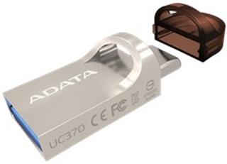 ADATA UC370, USB-A and USB-C memory, 64GB, OTG, USB 3.1 - Sølv