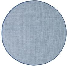 Flatvävd / slätvävd matta Belfort - Blå - Rund Ø120 cm