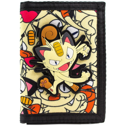 Pokemon Meowth 52 Team Rocket mønt & kort Tri-Fold tegnebog - Fruugo