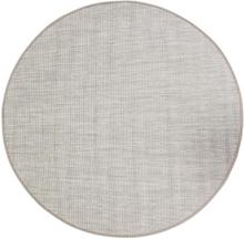 Flatvävd / slätvävd matta Belfort - Linne - Rund Ø120 cm