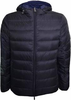 Armani Jeans mäns svart vändbar Puffer Jacket