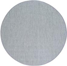 Flatvävd / slätvävd matta Belfort - Silver - Rund Ø120 cm