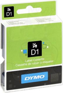 DYMO Standard D1 Tejp 12mm Svart på rött