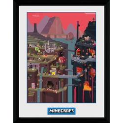 Minecraft World Framed Collector Print 30x40cm - wupti.com