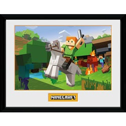 Minecraft Zombie Attack Framed Collector Print 30x40cm - wupti.com