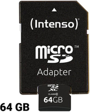 Mikro-SD-hukommelseskort med adapter INTENSO 3413490 64 GB Klasse 10