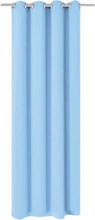 vidaXL Mörkläggningsgardin med öljetter 270x245 cm turkos